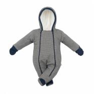 Zimní kojenecká kombinéza s kapucí a rukavicemi Baby Service Retro