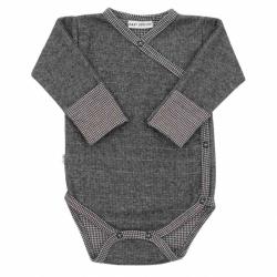 Zimní kojenecké celorozepínací body Baby Service Retro šedé