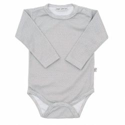 Kojenecké bavlněné body Baby Service Retro šedé
