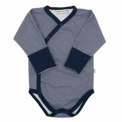 Kojenecké celorozepínací bavlněné body Baby Service Retro modré