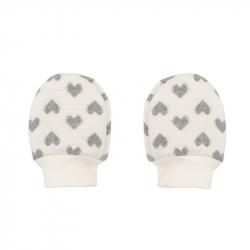 Zimní kojenecké rukavičky Baby Service Srdíčka