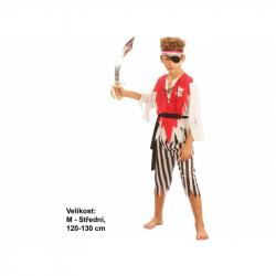 Kostým na karneval - Pirát s opaskom, 120-130 cm