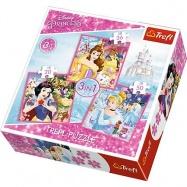 puzzle 3v1 - Svet princezen / Princezny