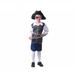Šaty na karneval - pirát, 120 - 130 cm