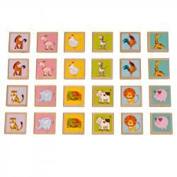 Lucy & Leo 133 Zvířátka - dřevěné dětské pexeso 24 kartiček