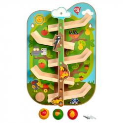 Lucy & Leo 237 Strom se zvířátky - dřevěný nástěnný tobogán