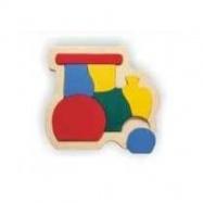 Dřevěné hračky - Vkládací puzzle - Vkládačka - Lokomotiva