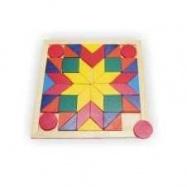 Drevené hračky - Mozaika štvorec