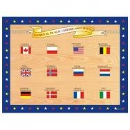 Dřevěné hračky - Vkládací puzzle - Vkládačka - Vlajky