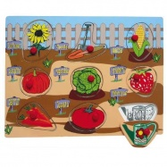 Drevené hračky - Vkladacie puzzle - Vkladačka - Záhrada