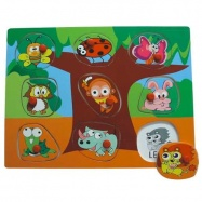 Dřevěné hračky - Vkládací puzzle - Vkládačka - Zvířata