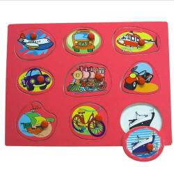 Dřevěné hračky - Vkládací puzzle - Dopravní prostředky D