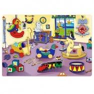 Drevené hračky Vkladacie puzzle Vkladačka Detská izbička A