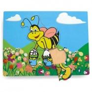 Drevené vkladacie puzzle včela
