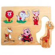Dřevěné hračky - Vkládací puzzle - Vkládačka - Zvířata ZOO