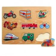 Dřevěné hračky - Vkládací puzzle - Dopravní prostředky F