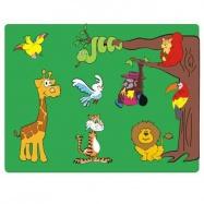 Drevené hračky - Vkladacie puzzle - Vkladačka - Zvieratá