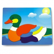 Drevené hračky - Vkladacie puzzle - Vkladačka - Kačica divá