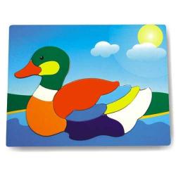 Dřevěné hračky - Vkládací puzzle - Vkládačka - Kachna divoká