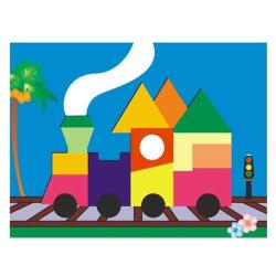 Dřevěné hračky - Vkládací puzzle - Vkládačka - Vláček