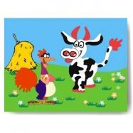 Drevené hračky - Vkladacie puzzle - Vkládačka Kohút a krava