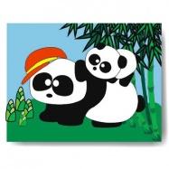 Dřevěné hračky - Vkládací puzzle - Vkládačka - Panda
