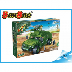 BanBao stavebnice - Defence Force - vozidlo Humvee 203ks + 2 figurky ToBees