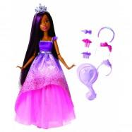 Barbie vysoká princezna s dlouhými vlasy brunetka