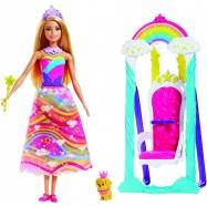 Barbie princezna s duhovou houpačkou