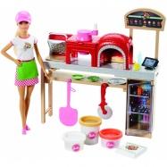 Barbie - Zestaw Pizzeria i lalka
