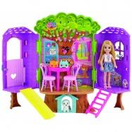 Barbie - Chelsea Domek na drzewie + lalka