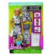 Barbie D.I.Y.crayola vybarvování šatů běloška