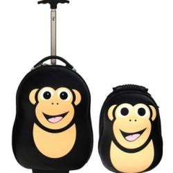 Dětská sada batoh a kufr Šimpanz