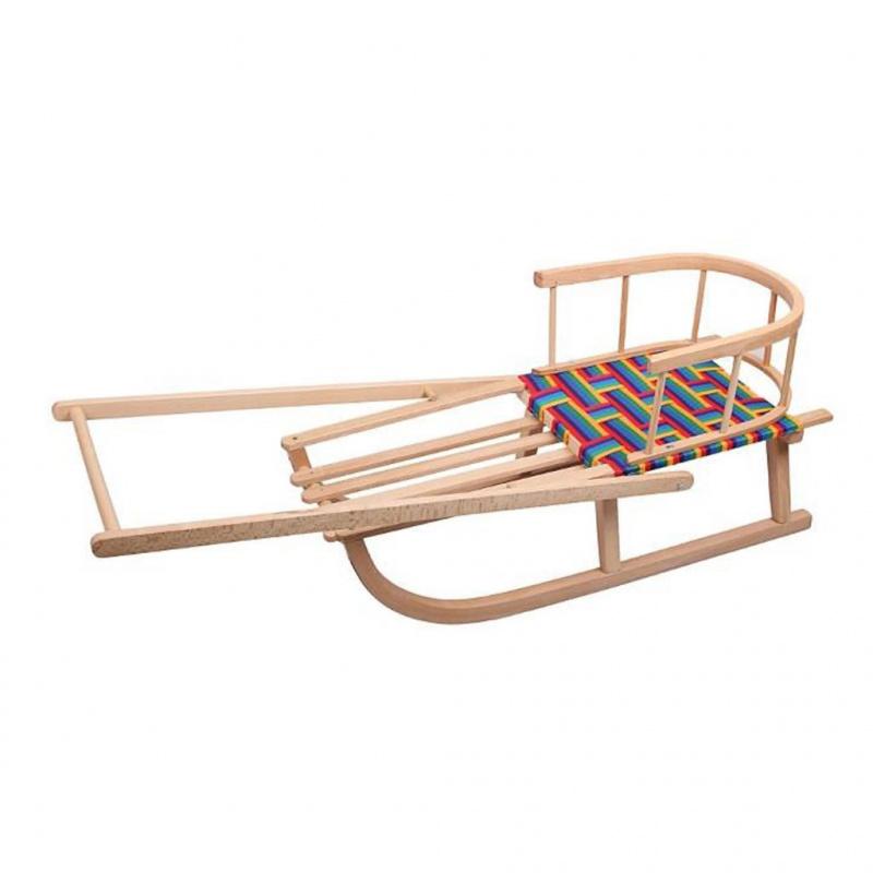 Drewniane sanki dla dzieci z rączką