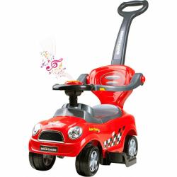 Detské hrajúci Jezdítko 3v1 Bayo Super Coupe red
