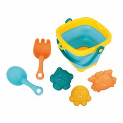 Skladacia kýblik a hračky do vody 5ks BAYO