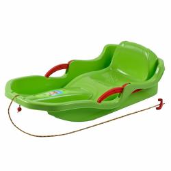 Plastikowe bobsleje z oparciem i hamulcami BAYO SPEED BOB zielone