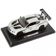 RACE BENTLEY CONTIN.GT3 1:24 bílá metalíza