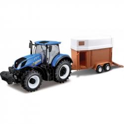 Bburago 1:32 Farm Traktor New Holland s vlečkou pre kone