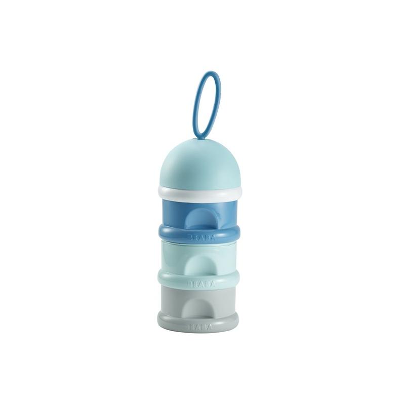 Dávkovač sušeného mlieka modrý