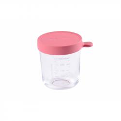 Kelímek na jídlo skleněný 250ml tmavě růžový