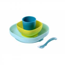 Jídelní sada silikonová 4-dílná Blue