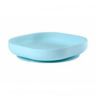 Tanier silikónový s prísavkou Blue