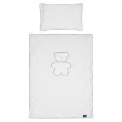 3-dielne posteľné obliečky Belisima Biely medvedík 100/135