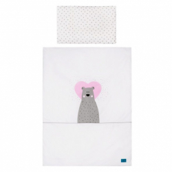 2-dílné ložní povlečení Belisima Bear in love 90/120 růžové