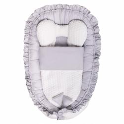 Luxusní hnízdečko s peřinkou pro miminko Belisima Králíček šedé