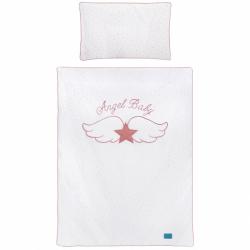 3-dielne posteľné obliečky Belisima Angel Baby 90/120 ružové