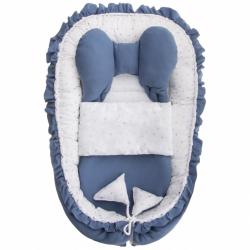 Hnízdečko s peřinkou pro miminko Belisima Angel Baby modré