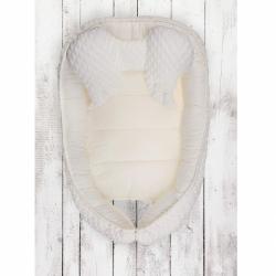 Hniezdočko pre bábätko Belisima Dino smotanové