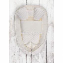 Hniezdočko s perinkou pre bábätko Belisima Dino smotanové